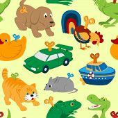 Kids Vector Toys Clockwork Key Mechanism Mechanic Cartoon Animals In Toyshop For Child Clock Work Ca poster