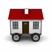foto of travel trailer  - Stylized motorhome on a white background - JPG