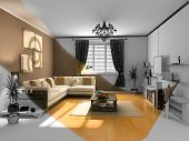 picture of home theater  - the modern interior sketch  - JPG