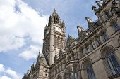 stock photo of hall  - Town Hall and Clock tower of Manchester Town Hall - JPG