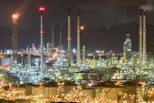 Oil Refiery Plant,oil Tank And Oil Storage At Sunset.thai Oil Refinery In Thailand. poster