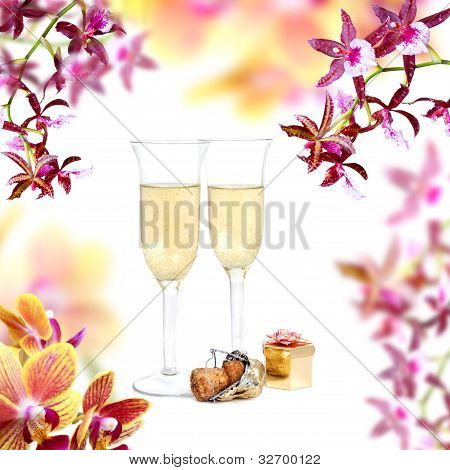 Champagne And Orchid