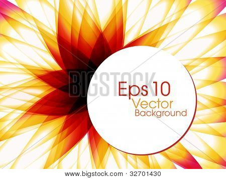 Abstract colorful  background with beautiful floral design for text project used and copy space, isolated on white. EPS 10, vector illustration.