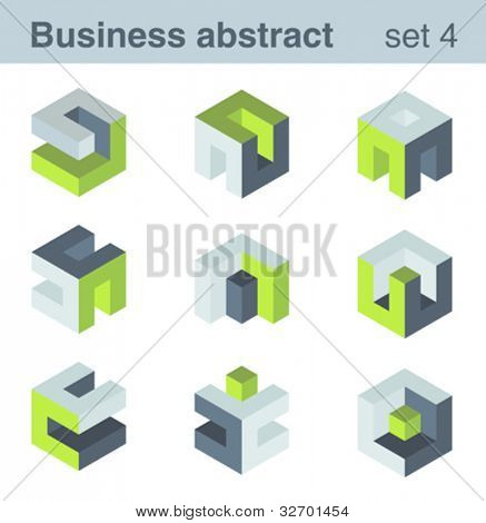 ICON Abstract Infinite shape. Success Team Concept