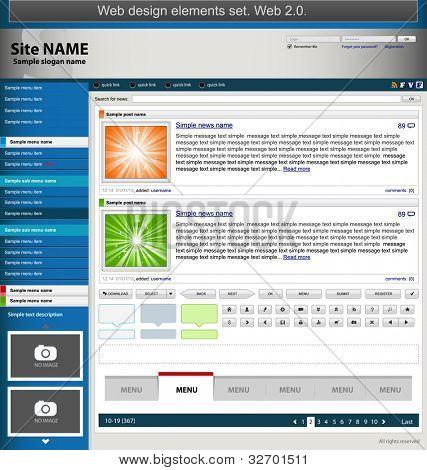 Web design elements set. Vector illustration
