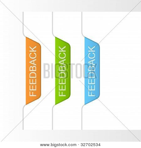 Feedback Labels. Vector Illustration
