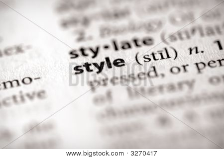 Dictionary Series - Attributes: Style