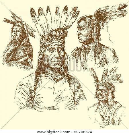 wild west, apache portraits