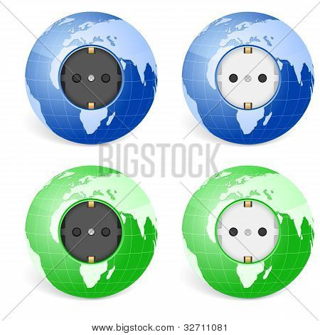 Outlet Socket World Globe