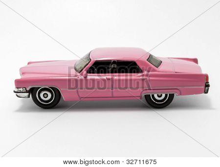 Pink toy car