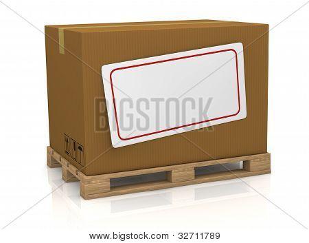 Carton Box With Label