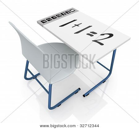 School Desk With Interactive Display