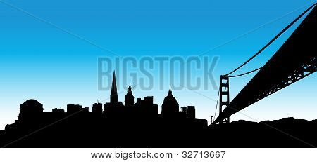 San Francisco Blue Skyline