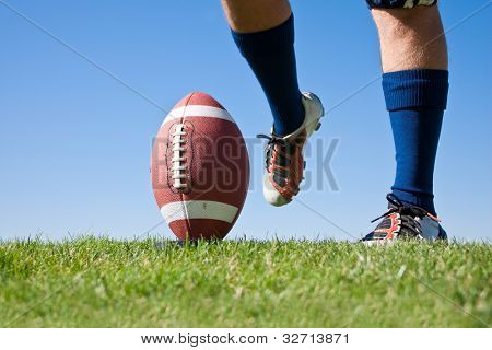 Football Kick low angle