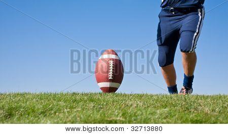 Kicker Ready for Football Kickoff