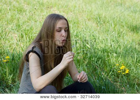 girl on a dandelion