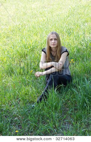 girl on a dandelion