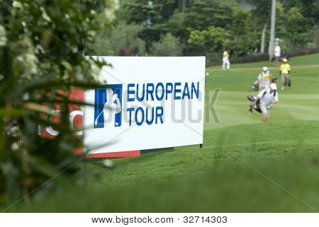 European Tour, signboard of co-sanctioned organizer during Maybank Malaysian Open 2012