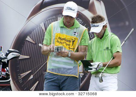Jogador de golfe JBE Kruger, África do Sul