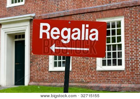 Regalia Sign At Harvard University Graduation