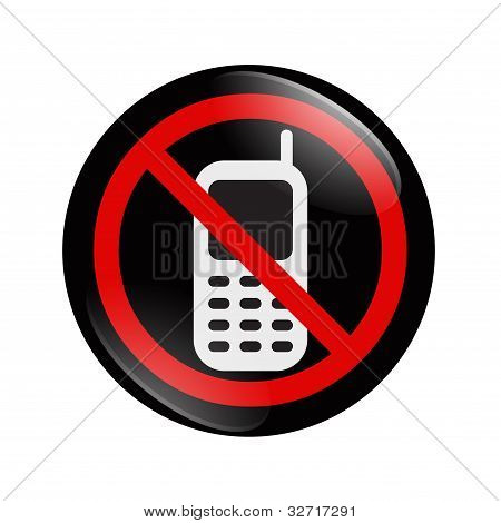 No Cell Phone Button