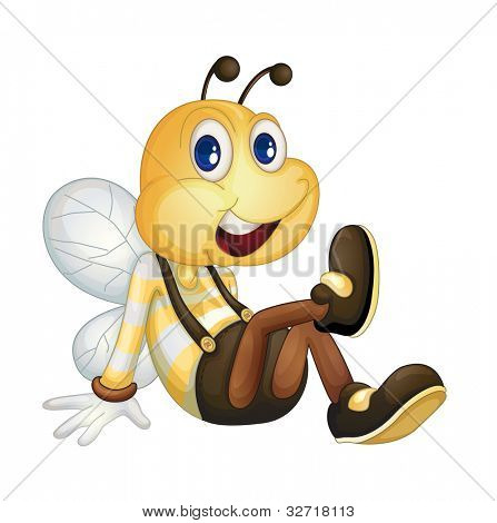 Bee sitting on the ground - EPS VECTOR format also available in my portfolio.
