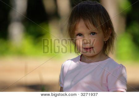 Portrait Of Satisfied Beauty Girl