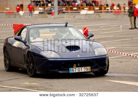 Leiria, Portugal - April 22: Valter Gomes Drives A Ferrari 575 Maranello During Day Three Of Rally V