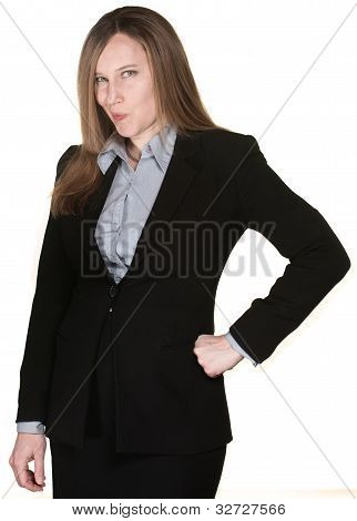 Suspicious Business Woman