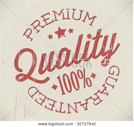 Vector retro premium quality red detailed stamp