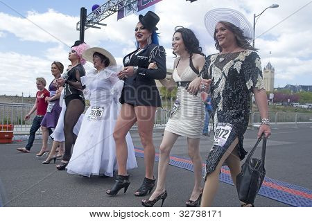 Drag queens on parade