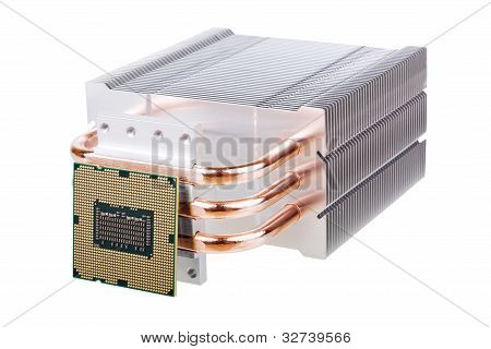Cpu And Cooler With Heatpipes