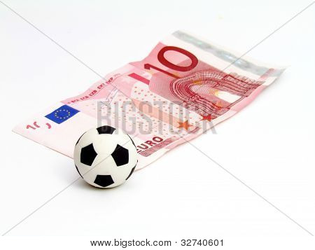 Soccer Ball in note 10 euro