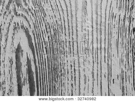 Textura de madeira com pintura descascando em forma redonda