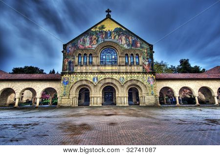Mission church at Stanford University California USA