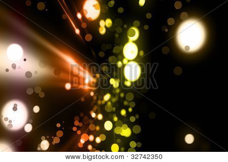 Futuristic light background design with bubbles on black background