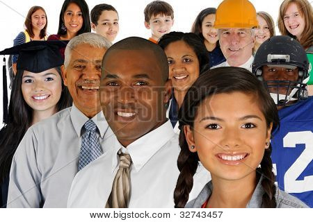 People of all different races and professions