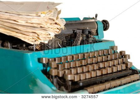 Typewriter And Newspapers