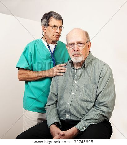 Unhappy Doctor And Patient