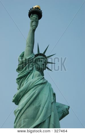 Statue Of Liberty Front Angle