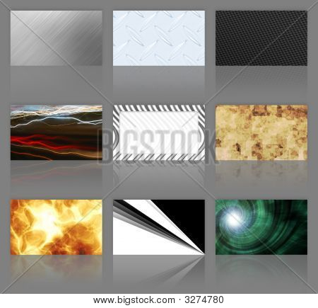 Nine Business Cards Assortment