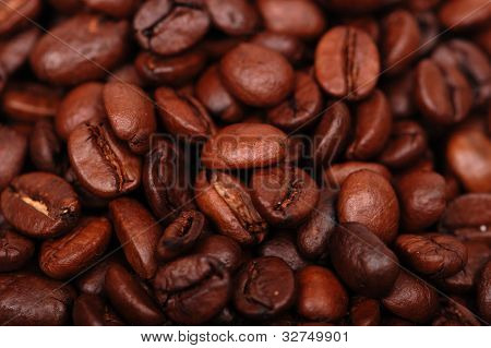 Textured coffee beans