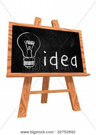 Idee auf Tafel