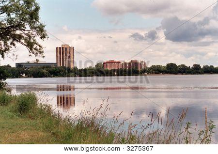 Uma bela Scenic do Lago Calhoun em Minneapolis