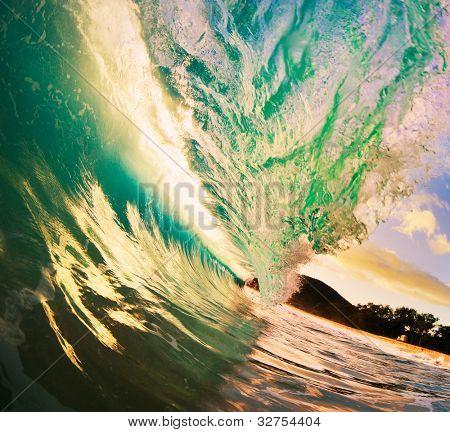 Beautiful Sunset Wave