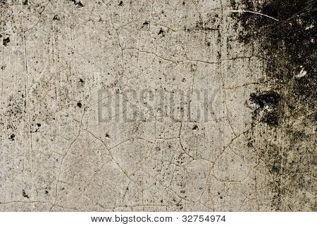 Plain Grunge Concrete Wall Background With Darkened Edges