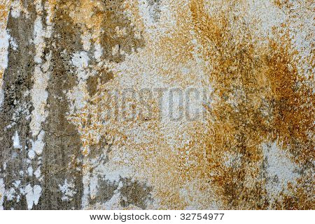 Peeling Paint Grunge Concrete Wall Background