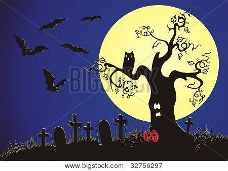 Halloween nightscene