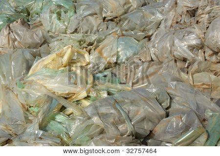 Polyethylen-Folien-Deponie