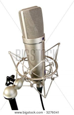Isolated Studio Microphone